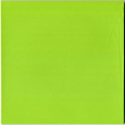 Einfarbiges Origami Papier Set Gelbgrün