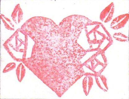Stempel Herz mit Rosen 02
