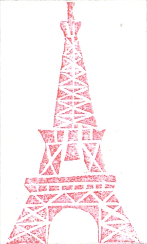 Stempel Eiffelturm 02