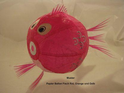 Papier Ballon Fisch rot