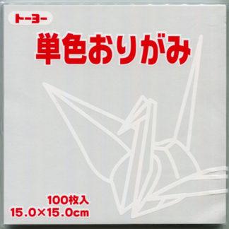 Einfarbiges Origami Papier Set weiss 100 Blätter