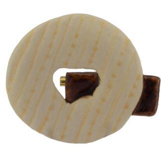 Keramik Brosche Handarbeit