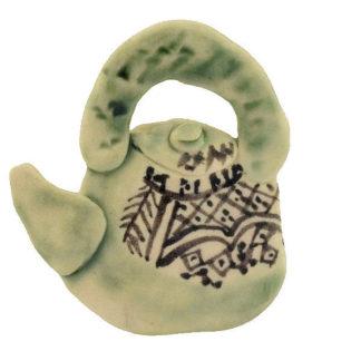 Keramik Brosche Krug