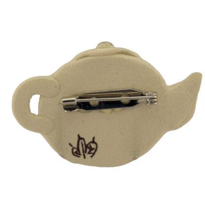 Keramik Brosche Kaffee Krug Handarbeit