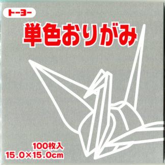 Einfarbiges Origami Papier Set grau