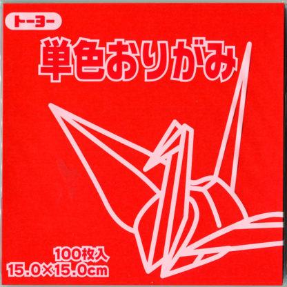 Einfarbiges Origami Papier Set Rot