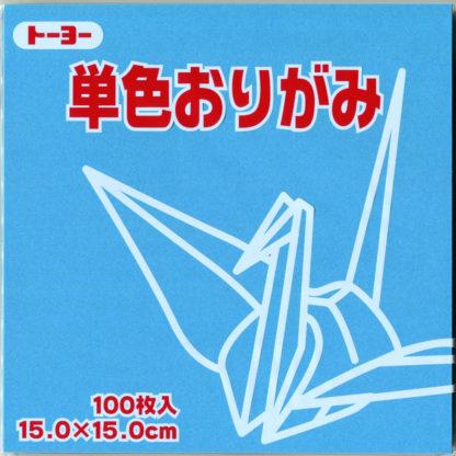 Einfarbiges Origami Papier Set himmelblau 100 Blätter