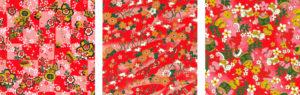 Origami Reispapier Set Yuzen rot