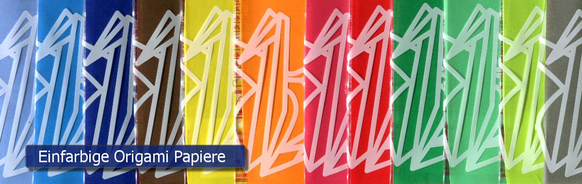 Einfarbige Origami Papiere