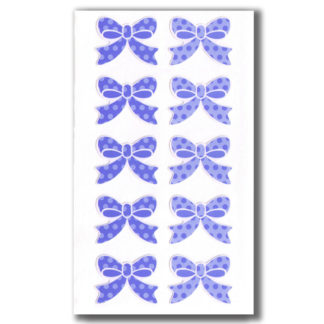 Aufkleber Schleife Ribon blau Set 10 Stück