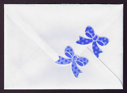 Aufkleber Schleife Ribon blau