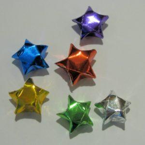 Glänzende Origami Papier Sterne