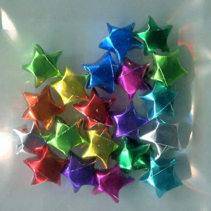 Glänzende Origami Sterne Set