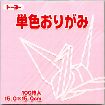 Einfarbiges Origami Papier Set light pink 100 Blätter