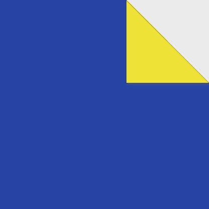 Origami Papier zweiseitig dunkelblau gelb