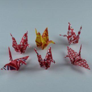 Alle mini Origami Kraniche vom Set 2
