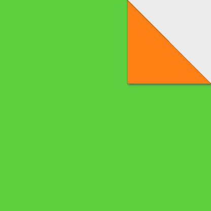 Origami Papier zweiseitig hellgrün orange