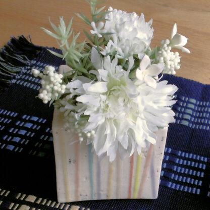 Dekorations Vase Würfel
