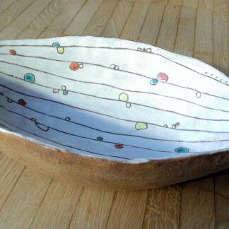 Ovale Früchteschale