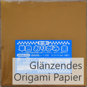 Titelbild glänzende Origami Papier Sets