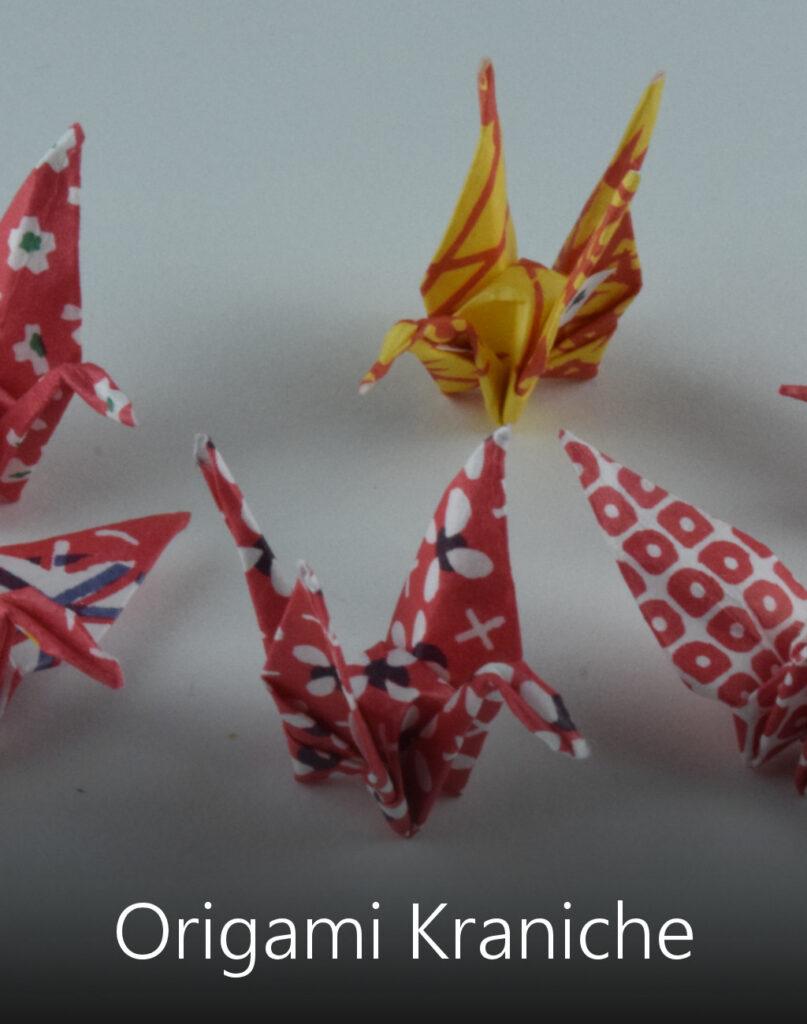 Titelbild Origami Kraniche